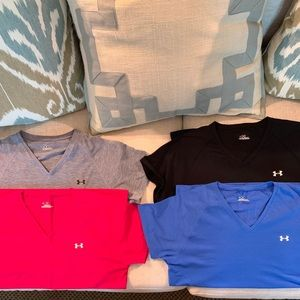 Under Armour women's v-neck tees size M
